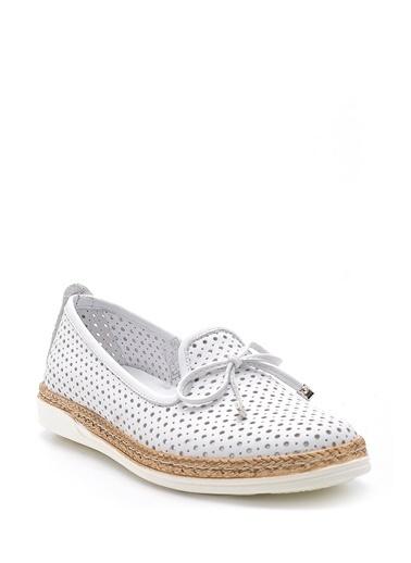 Derimod Hakiki Deri Ayakkabı Beyaz